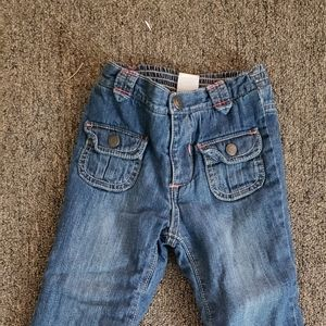 Girls lined jeans
